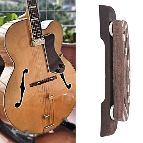 Ponte in legno per chitarra, ponte regolabile in palissandro, accessorio di riparazione per chitarra jazz a 6 corde