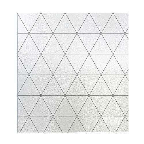 bandezid Vinilo para Ventana con Cuadriculas Esmerilado Vinilo Cristal Translucido Adhesivo Plus Rejilla Espaciada Luz Solar Pegatina Decorativa contra UV 0.4x2m-L-triangle 0.4x3m