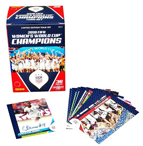 Panini 2019 FIFA Officially Licensed Women's USA World Cup Champions Limited Edition Team Set of Trading Cards Factory Sealed
