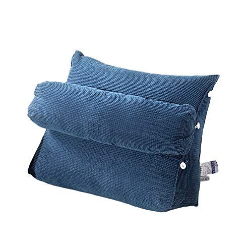 Kaliya Triangle Back Wedge Kissen Bed Bay Sofakissen Reißverschluss abnehmbar waschbar verstellbare Rückenlehne Lesekissen (Style-25, L)