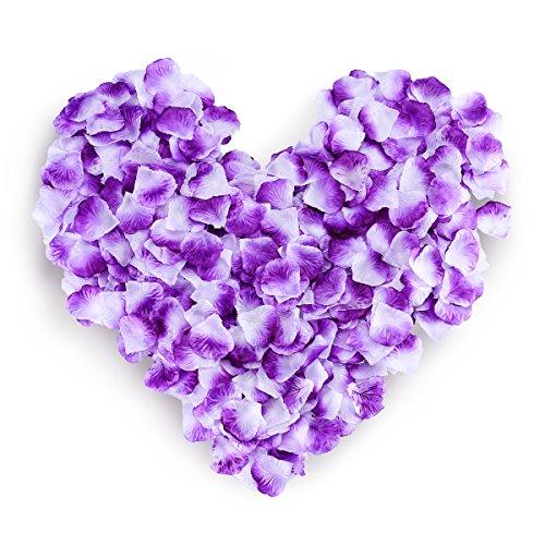 HC STAR 1200pcs Silk Rose Petals Mixed Color Artificial Flower Wedding Party Vase Home Decor Bridal Petals Rose Favors