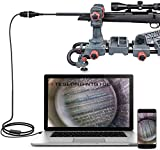 Teslong Rifle Borescope, 0.2 Inch Gun Barrel Bore Scope Camera, Side-View Mirror, 36