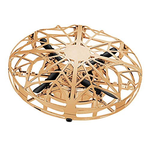 Dron UFO, Mini dron UFO para niños, Bola voladora con Luces LED y giratorias de 360 °, Control Manual de Bola voladora, evitación Inteligente de obstáculos,Juguete Aire Libre
