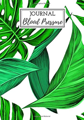 Blood Pressure journal: Blood pressure logbook, daily blood pressure log, 100 weeks of daily reading, note the date,  Time, Heart rate, blood ... rate, weight etc. Large size and large boxes.