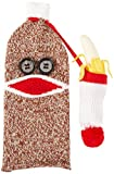 Guzzle Buddy SM-101 Sock Monkey Wine Bottle Cover, One Size, Brown, red, white