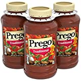 Prego Pasta Sauce, Italian Tomato Sauce With Meat, 45 Oz Pet, 3Count