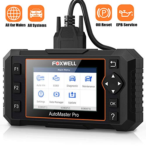 FOXWELL OBD2 Scanner NT624E All Systems Diagnostic Scan Tool, Check Engine ABS Airbag Oil EPB EPS BCM HVAC Suspension Headlamp Codes and Service Light for 58 Car Makes
