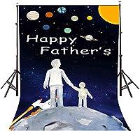 HD 5x7ft父の日の背景星空の幸せな父の日の写真の背景とスタジオの写真の背景の小道具LYNAN375