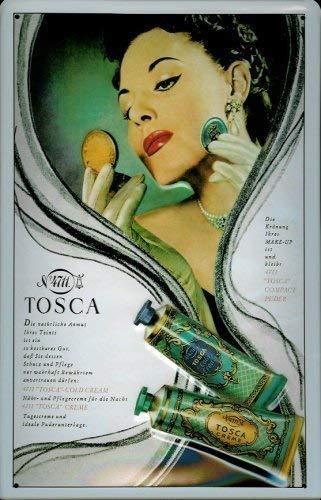 4711 Tosca Creme Blechschild 20 x 30 cm