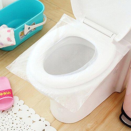 Woopower 10pcs/bolsa desechable asiento de inodoro cubre ligero Biodegradable sanitarios–Asiento para inodoro con tapa para viajar hotel