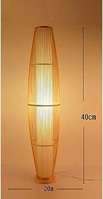 FYHH-JZHY -Standing Light Nouveau Lampadaire De Style Chinois Salon Pastorale Chambre Couloir Creative Bambou Tissé Lampe Maison Hôtel Éclairage Intérieur Décoration Salon (Couleur: 40Cm)