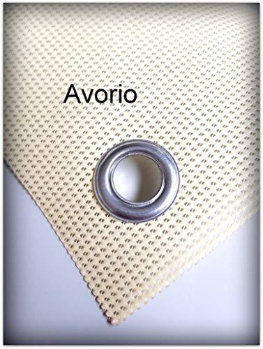 TUTTOPERGOLE Fascia in PVC OMBREGGIANTE per Copertura Gazebo in Metallo (Cm 300 X Cm 50, Avorio)