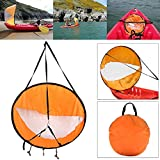Majome Kayak Bateau Wind Sail canoë SUP Paddle Planche à voile avec fenêtre transparente Pêche Bateau gonflable hors-bord Drifting, orange
