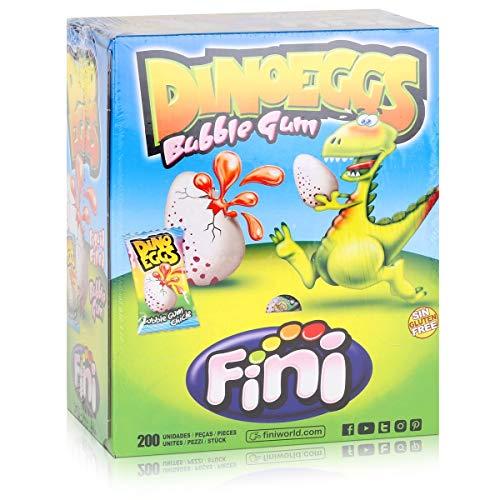 Fini - Dino-Eggs - gefüllte Kaugummis - Box / Display mit 200 Stück