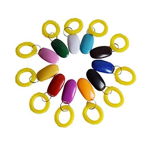 Gowind6 Lot de 7 porte-clés de dressage pour animal domestique avec son réglable