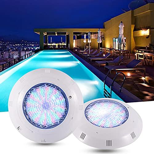 AMDHJ 12V 12-45W LED per Piscina Luce Subacquea per laghetto, luci per Piscina a LED RGB per Piscina interrata IP68 Impermeabile (Color : RGB, Size : 45W)