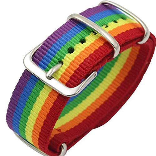 Pulseras de nylon para parejas de hombres y mujeres con arco iris, las niñas tejen con orgullo pulseras de joyería de la amistad pulseras de estudiantes de moda pulseras femeninas