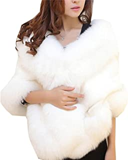 Aurora Bridal Fashion Luxury Faux Fur Winter Shawl Wrap Women Sarves Wedding Cloak Cape