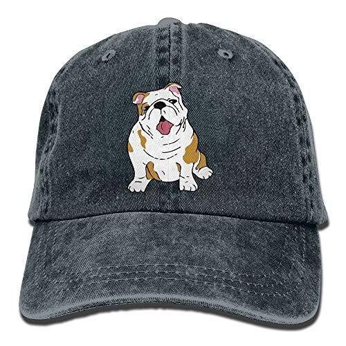 Ocaohuahuaba - Gorra de béisbol unisex, diseño de bulldog inglés, estilo vintage, de algodón, ajustable