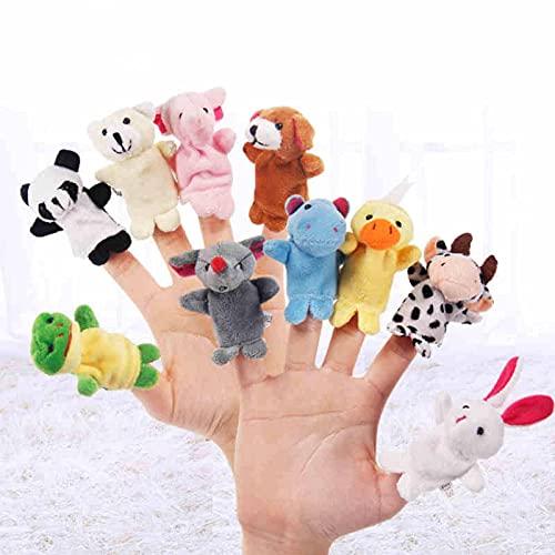 N\C Marionetas de Dedo de Animales eson, Diferentes muñecos de Terciopelo Suave de Dibujos Animados, Juguetes de pie, presentaciones, Entretenimiento y Regalos para niños
