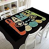XXDD Cool Video Games Gamer Gaming Table Cloth Mantel Impermeable Cubierta de Mesa para mesas rectangulares Cuadradas Cubierta Decoración A1 140x140cm