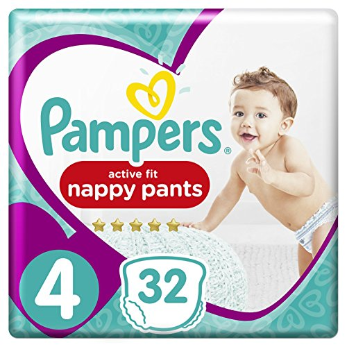 Pampers Premium Active Fit Pants Taille 4 8-14 kg - 32 Couches-Culottes