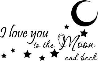 Empresal I Love You to The Moon and Back Vinyl Decal Quotes Sticker Wall Art
