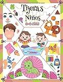 Tijeras Niños 3-6 años: Libro manualidades para cortar y pegar