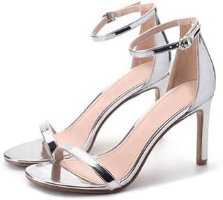 esSandalias Amazon De 100 50 Eur Zapatos Tacon Bajo Plateado K1clJF3T