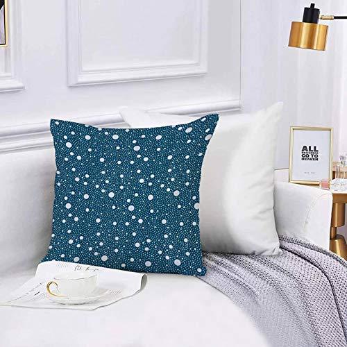 Lilatomer dekorativer Kissenbezug,Stuhl, Bettwäsche, Navy Blue Bubble Round Dot,Kissenbezüge für Couch, (45 x 45 cm) mit unsichtbarem Reißverschluss