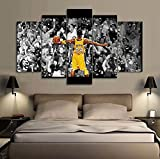 5 PCS Framed Kobe Bryant's Elevate Yourself Canvas
