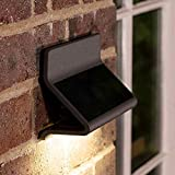 Zenith Warm White Solar Powered Outdoor Wall Light