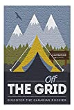 Jasper National Park, Canada - Off the Grid - Tent - Discover the Canadian Rockies Press 86964 (Premium 500 Piece Jigsaw Puzzle for Adults, 13x19, Made in USA!)