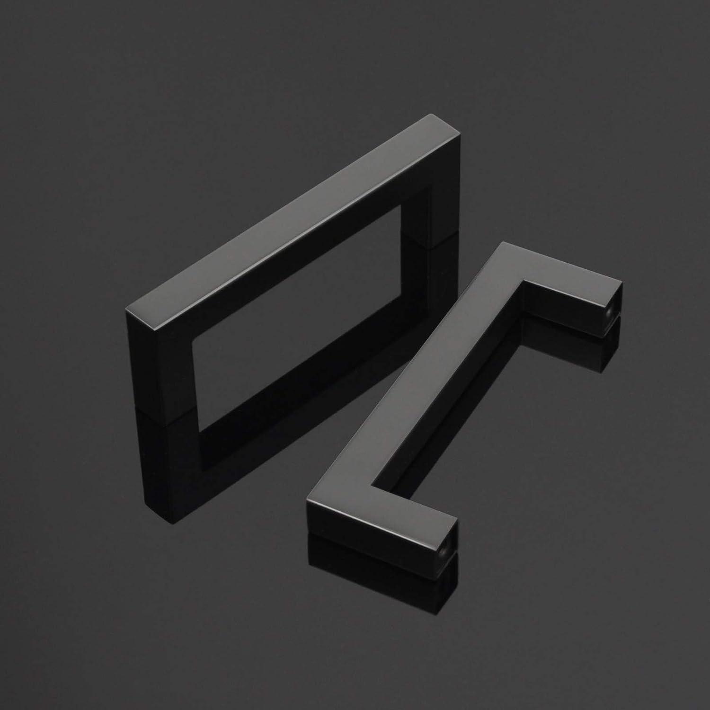 Tiradores en forma de T para puerta de armario de cocina o dormitorio 96 mm para armario o cajones 25 unidades acero inoxidable color negro