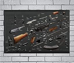 USWay 144423 Kalashnikov AK-47 Explosion Diagram Weapon Decor Wall 36x24 Poster Print