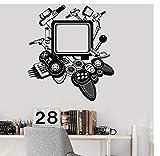 Ps4 Gamecontroller Joystick Wandaufkleber X-Box Gamer Elektronisches Spiel Coole Dekoration Junge Schlafzimmer Dekoration 47X42Cm Zkpyy