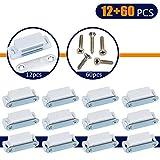 Coardor Cierre Armarios Magnético Pestillo Puerta 12 Piezas Para Puerta De Cocina Home Muebles Blanco Con Tornillos 60 Piezas