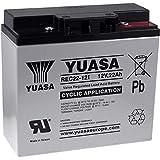 Yuasa Batterie de Remplacement pour Chariot de Golf, chaises roulantes électriques, caravanes de Camping, Scooters électriques 12V 22Ah Cycle Stable, 12V, Lead-Acid [ Batterie au Plomb ]