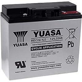 Batterie de remplacement YUASA pour panneau solaire, machines de nettoyage plateformes de levage 12V 22Ah cycle stable