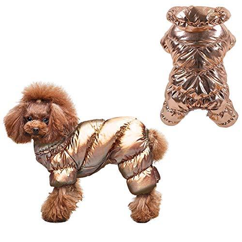 Hundejacke Winterweste Warm Wasserdichte Winddichte Jacken Hundemantel, Für Kleine Mittelgroße Hunde, Gefüttert Mit Fleece-Design, Snap-Design, Erhältlich Im Herbst Und Winter-XS/S/M/L