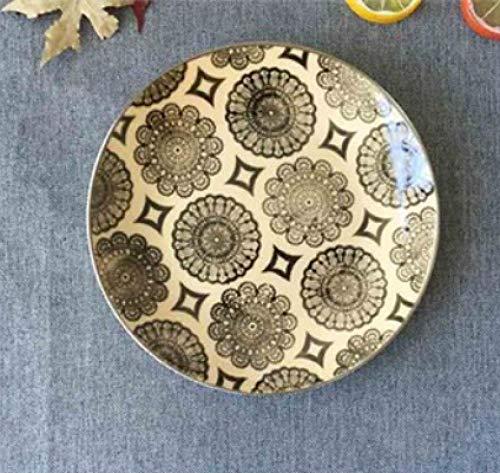 LMMJYF 8 Zoll exotische handbemalte marokkanische Italien Bohemian Style Teller Bunte Salatteller Speisen runde Dekoration Teller Geschenke-18