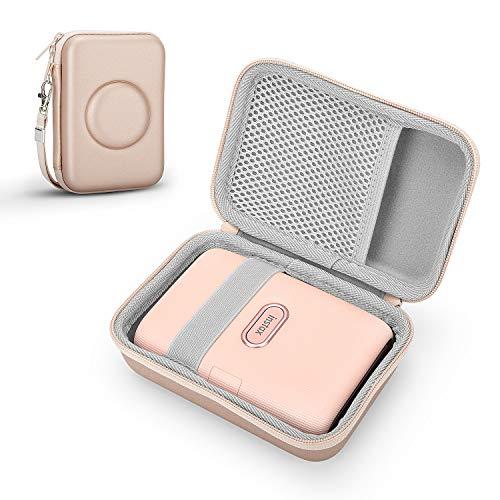 Fromsky Tasche Hülle für Fujifilm Instax Mini Link Smartphone Printer Drucker, Hart Reise Tragen Case (Rose Gold)