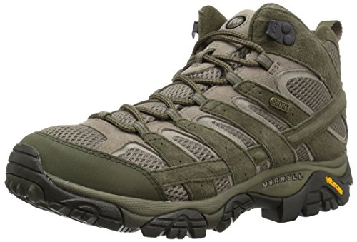 Merrell Men's Moab 2 Mid Waterproof Hiking Boot, Dusty Olive, 13 M US