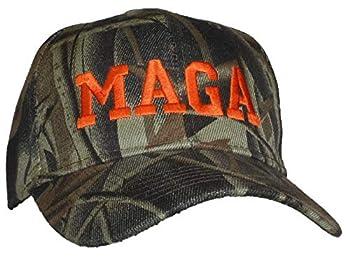 Tropic Hats Adult Embroidered MAGA Donald Trump Adjustable Ballcap - Hardwoods Camo