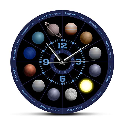 Wall Clocks Planets Of Astrology Outer Space Modern Wall Clock Solar System Planets Astronomy Non Ticking Wall Watch Nursery Kids Room Decor Nordic Style Design Modern Creative And Elegant