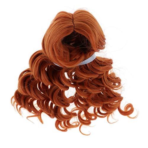 MagiDeal Puppenperücke DIY Puppenhaar Braune lockiges Haarteil Haarperücke Für BJD Puppe - 1/3