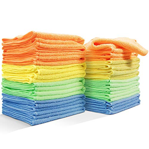 Masthome 20 Pack Reusable Microfiber Cleaning Cloth for Kitchen Car Cleaning Soft Cleaning Rags Kitchen Wipes Without Chemicals