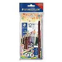 ステッドラーノリスColouring Pencils with A Eco鉛筆とMarsプラスチック消しゴム