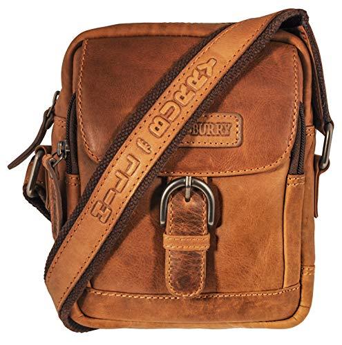 Hill Burry leren schoudertas - schoudertas   reisportefeuille van hoogwaardig rundleer   Organizer/Travel-Wallet   Documententas/Partytas - Bag, bruin (bruin) - BBT-05BR