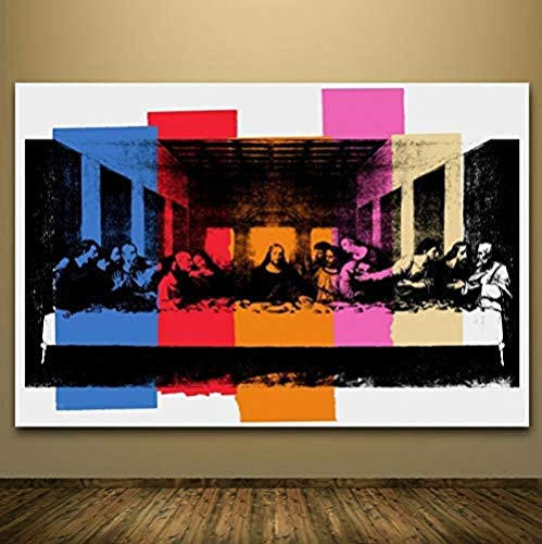KELDOG Puzzle Astratti Puzzle in Legno 1000 Pezzi, opere d'Arte di Famosi pittori dell'ultima Cena, Puzzle Pop Art del 1986, Puzzle Colorati